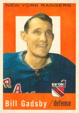 1959 Topps Bill Gadsby #62 Hockey Card