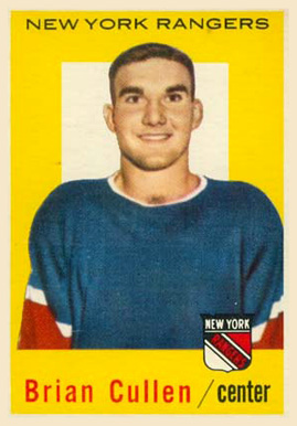 1959 Topps Brian Cullen #55 Hockey Card