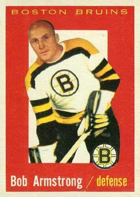 1959 Topps Bob Armstrong #39 Hockey Card