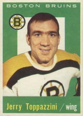 1959 Topps Jerry Toppazzini #38 Hockey Card