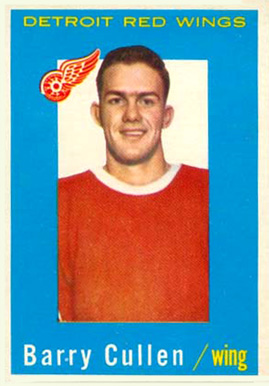 1959 Topps Barry Cullen #25 Hockey Card