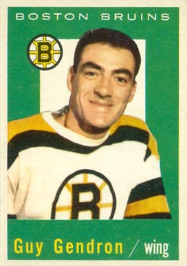 1959 Topps Jean-Guy Gendron #24 Hockey Card