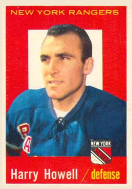 1959 Topps Harry Howell #20 Hockey Card