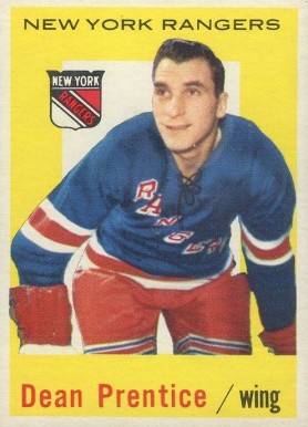 1959 Topps Dean Prentice #17 Hockey Card