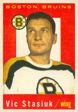 1959 Topps Vic Stasiuk #14 Hockey Card