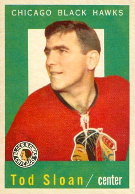 1959 Topps Tod Sloan #13 Hockey Card