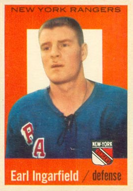 1959 Topps Earl Ingarfield #10 Hockey Card
