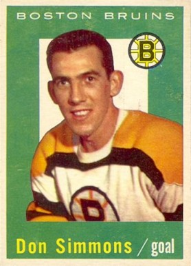 1959 Topps Don Simmons #11 Hockey Card