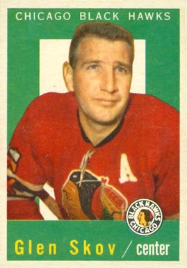 1959 Topps Glen Skov #12 Hockey Card