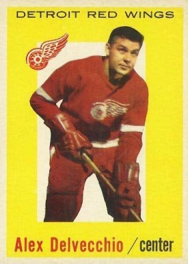1959 Topps Alex Delvecchio #8 Hockey Card