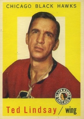 1959 Topps Ted Lindsay #6 Hockey Card