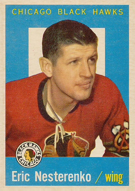 1959 Topps Eric Nesterenko #1 Hockey Card