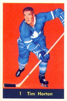 1960 Parkhurst Tim Horton #1 Hockey Card