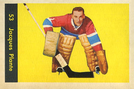 1960 Parkhurst Jacques Plante #53 Hockey Card