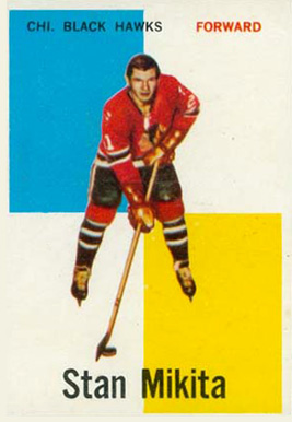 1960 Topps Stan Mikita #14 Hockey Card