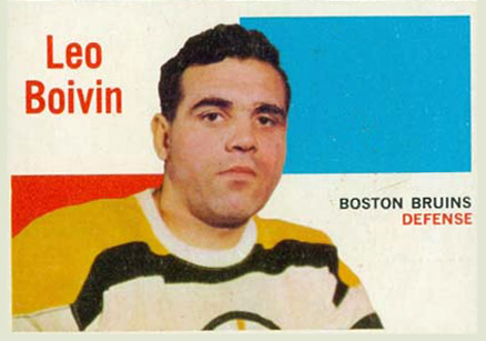 1960 Topps Leo Boivin #62 Hockey Card