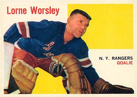 Gump Worsley Hockey Card 1983 Hall of Fame #180 Gump Worsley