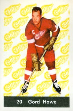 1961 Parkhurst Gordie Howe #20 Hockey Card