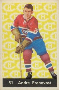 1961 Parkhurst Andre Pronovost #51 Hockey Card