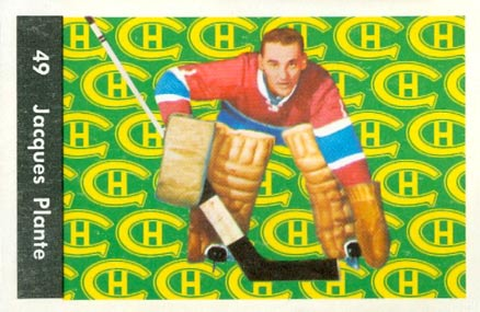 1961 Parkhurst Jacques Plante #49 Hockey Card