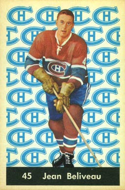 1961 Parkhurst Jean Beliveau #45 Hockey Card
