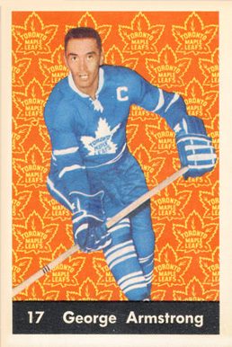 1961 Parkhurst George Armstrong #17 Hockey Card