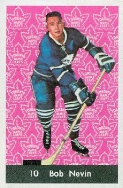1961 Parkhurst Bob Nevin #10 Hockey Card