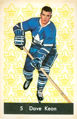 1961 Parkhurst Dave Keon #5 Hockey Card