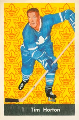 1961 Parkhurst Tim Horton #1 Hockey Card