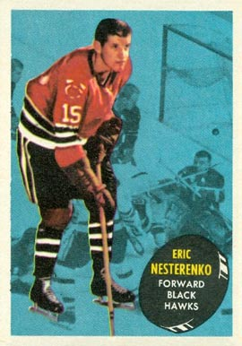 1961 Topps Eric Nesterenko #28 Hockey Card