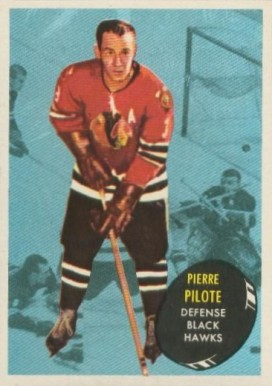 1961 Topps Pierre Pilote #24 Hockey Card