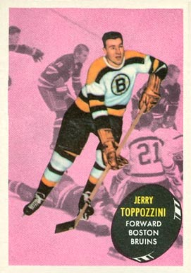 1961 Topps Jerry Toppazzini #9 Hockey Card