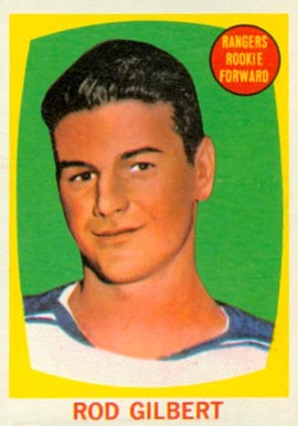 1961 Topps Rod Gilbert #62 Hockey Card