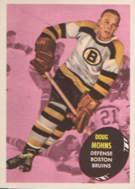 1961 Topps Doug Mohns #10 Hockey Card