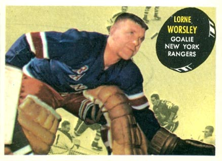1961 Topps Gump Worsley #50 Hockey Card