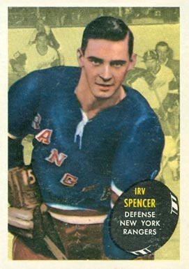 1961 Topps Irv Spencer #47 Hockey Card
