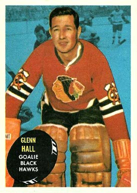 1961 Topps Glenn Hall #32 Hockey Card
