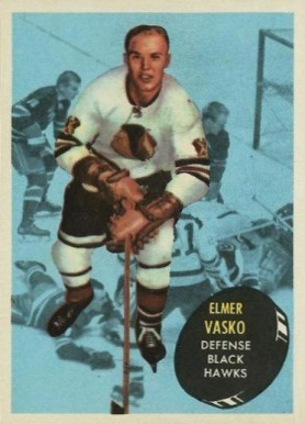 1961 Topps Elmer Vasko #25 Hockey Card