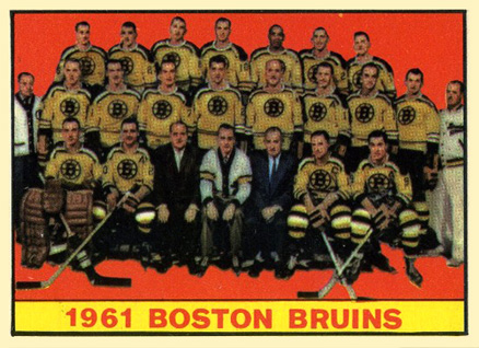 1961 Topps Boston Bruins Team #20 Hockey Card