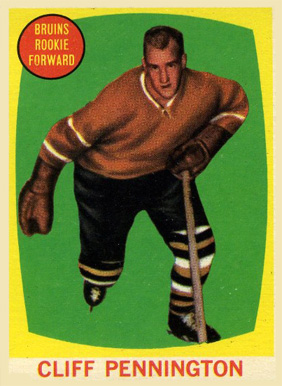 1961 Topps Cliff Pennington #19 Hockey Card