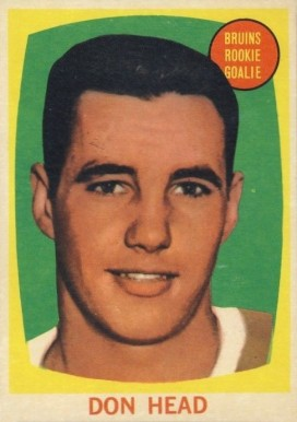 1961 Topps Don Head #17 Hockey Card