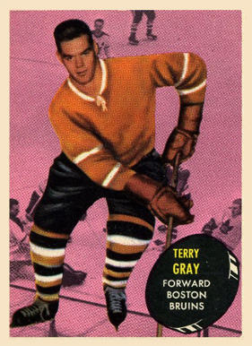 1961 Topps Terry Gray #16 Hockey Card
