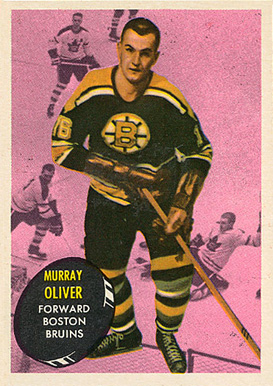 1961 Topps Murray Oliver #14 Hockey Card