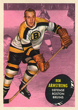 1961 Topps Bob Armstrong #13 Hockey Card