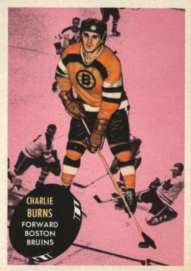 1961 Topps Charlie Burns #11 Hockey Card