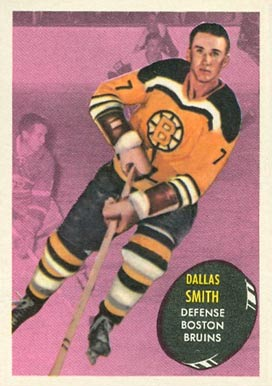 1961 Topps Dallas Smith #4 Hockey Card