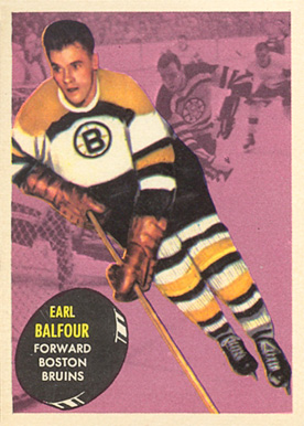 1961 Topps Earl Balfour #3 Hockey Card