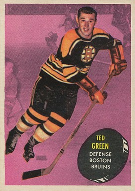 1961 Topps Ted Green #2 Hockey Card