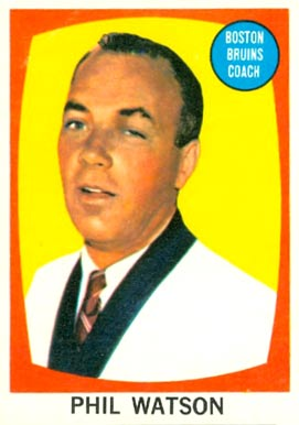 1961 Topps Phil Watson #1 Hockey Card
