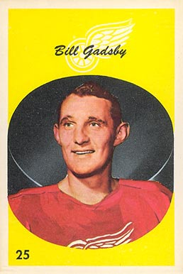 1962 Parkhurst Bill Gadsby #25 Hockey Card